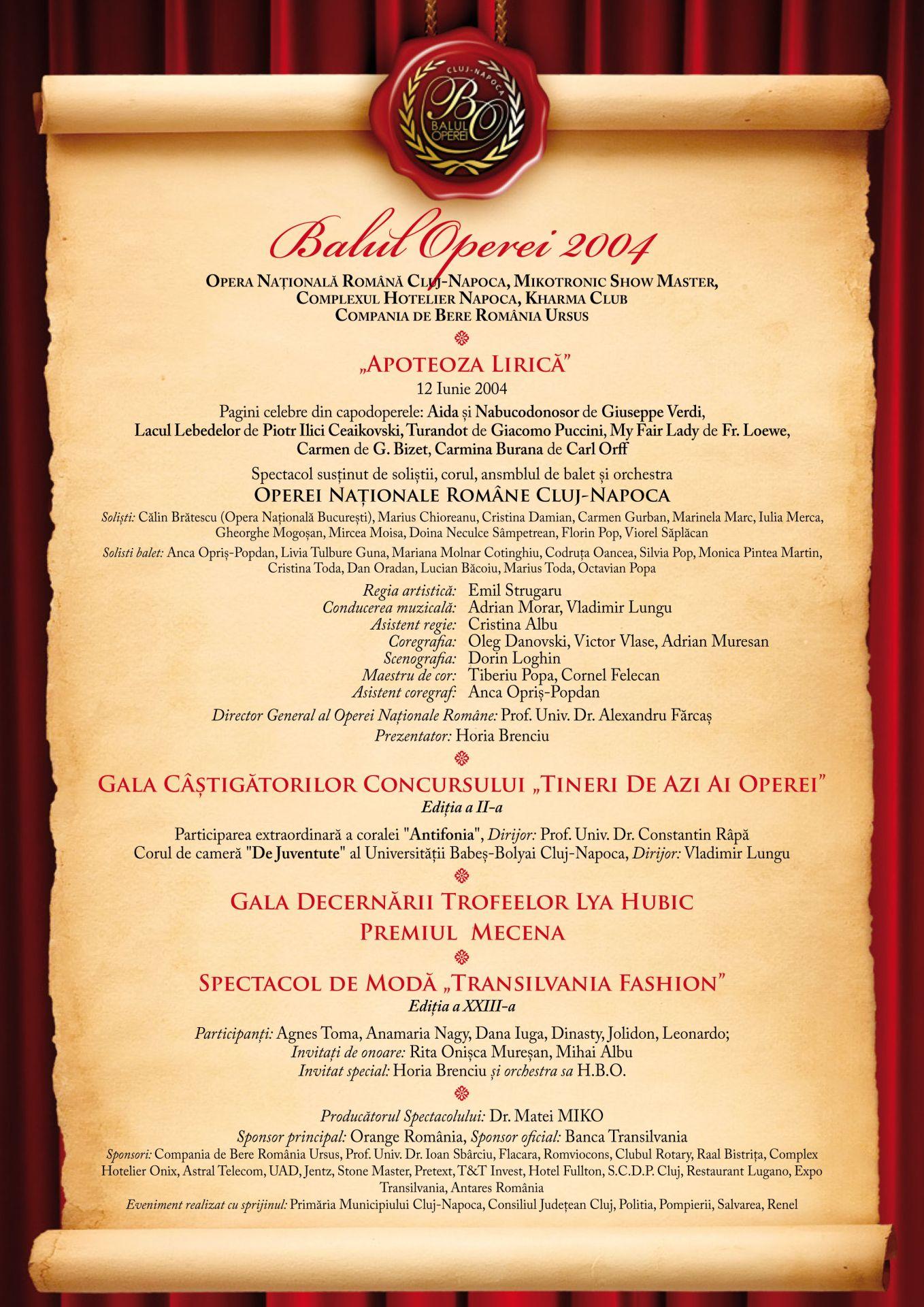 Balul Operei Cluj-Napoca, istoric